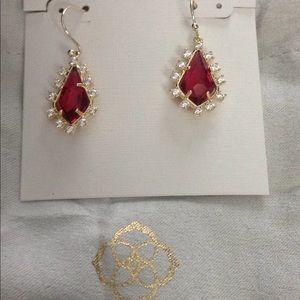 Kendra Scott Ruby Red Earrings